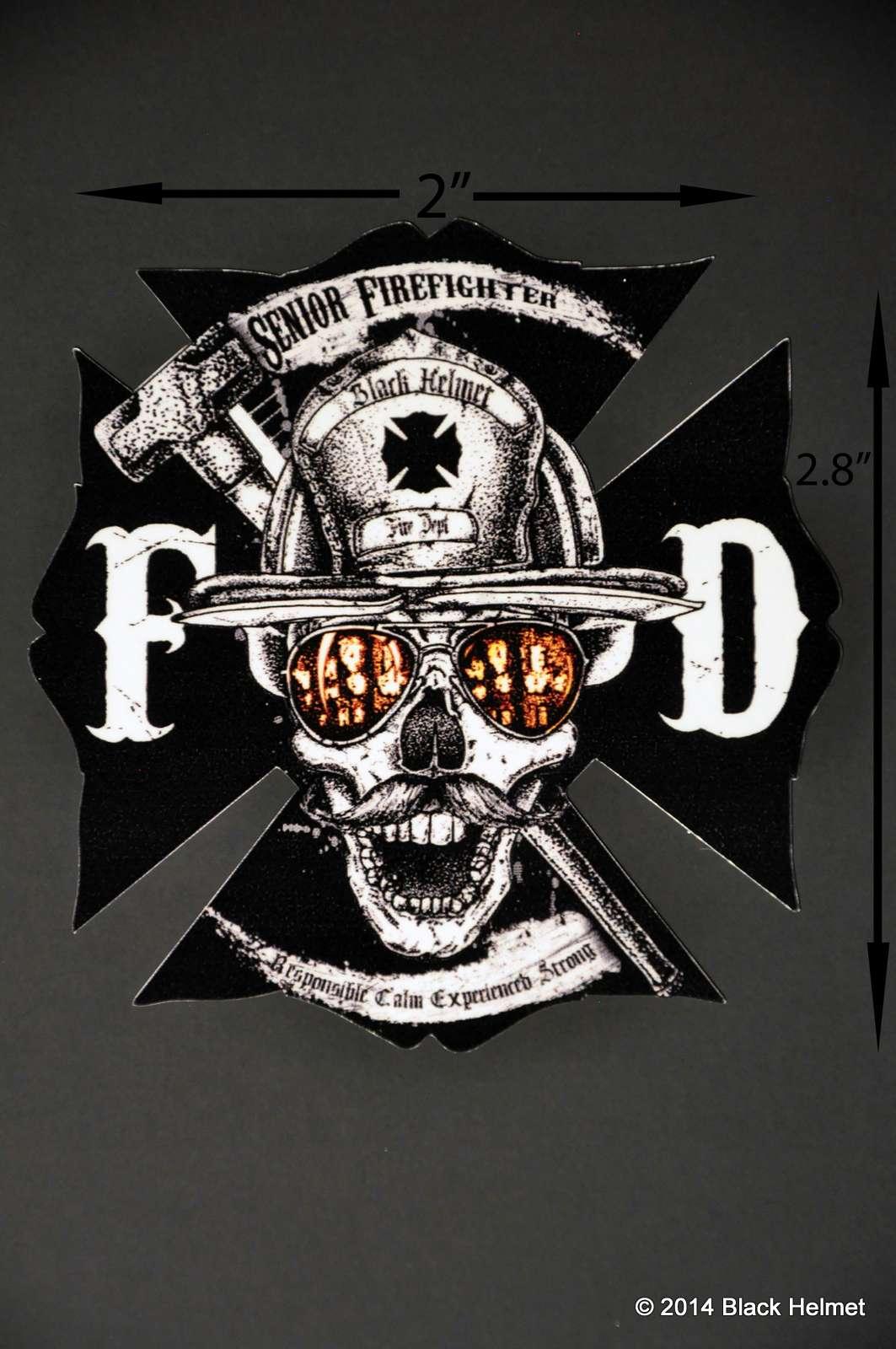 Senior Firefighter Helmet Decal Black Helmet Firefighter Shirts - Fire helmet decals