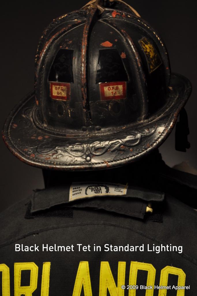 Skull Logo Helmet Tet Black Black Helmet Firefighter Shirts - Fire helmet decals