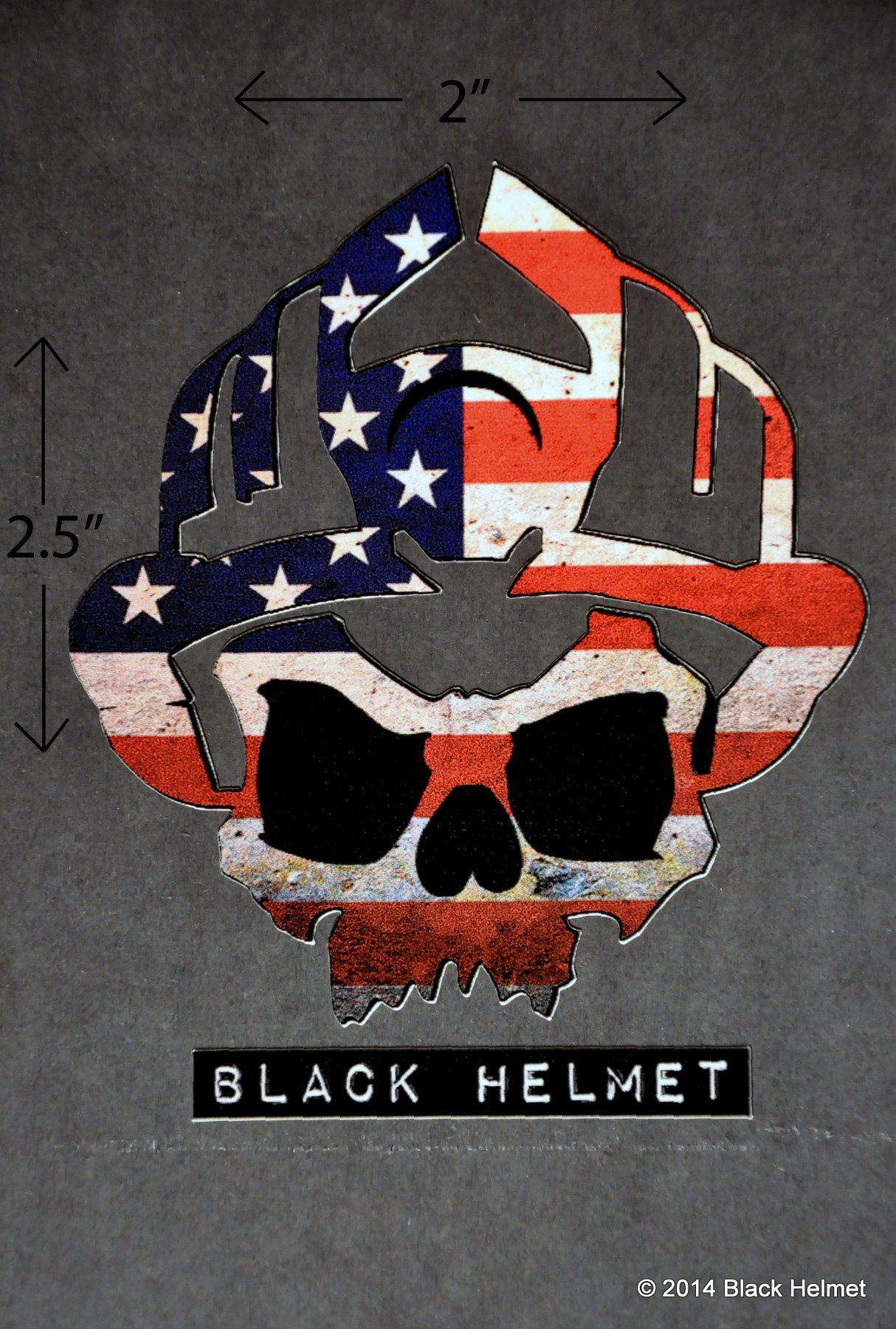 American Flag (Old Glory) Skull Logo Helmet Decal - Black Helmet Firefighter  Shirts, Hats, Decals and Accessories