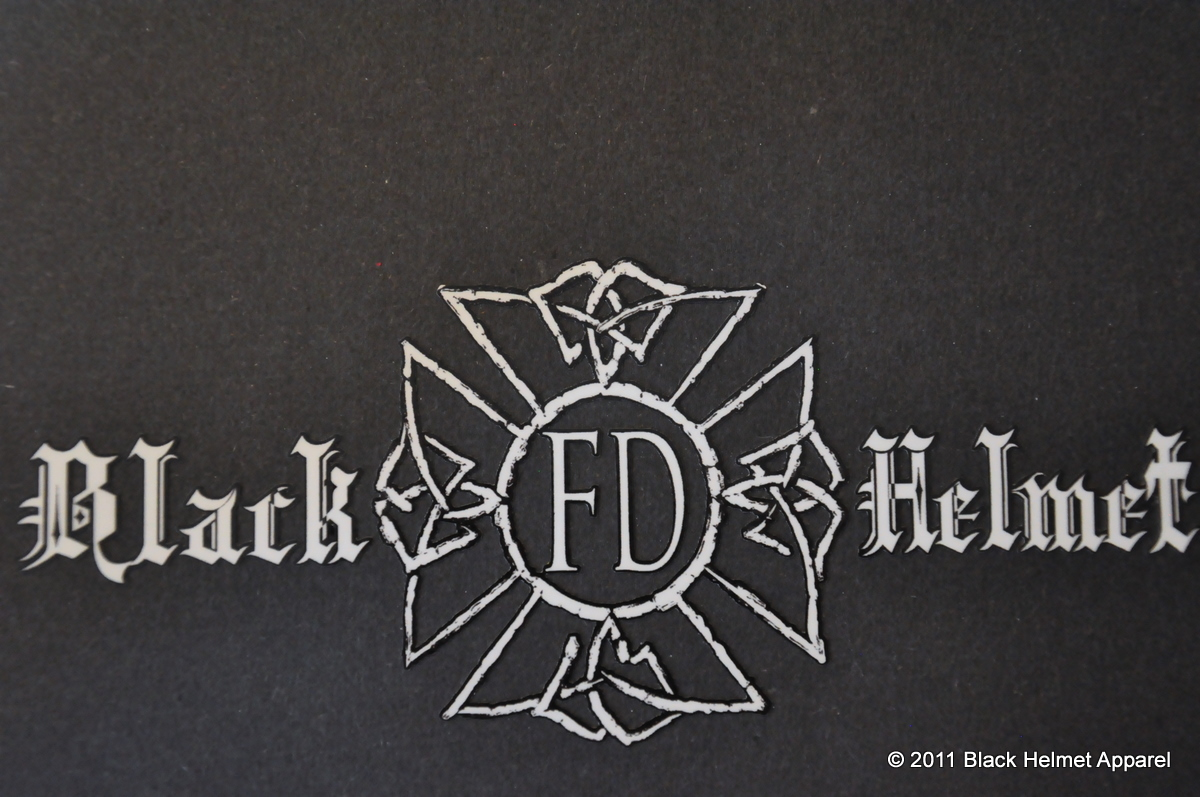 Black Helmet Fd Decal Large Black Helmet Firefighter