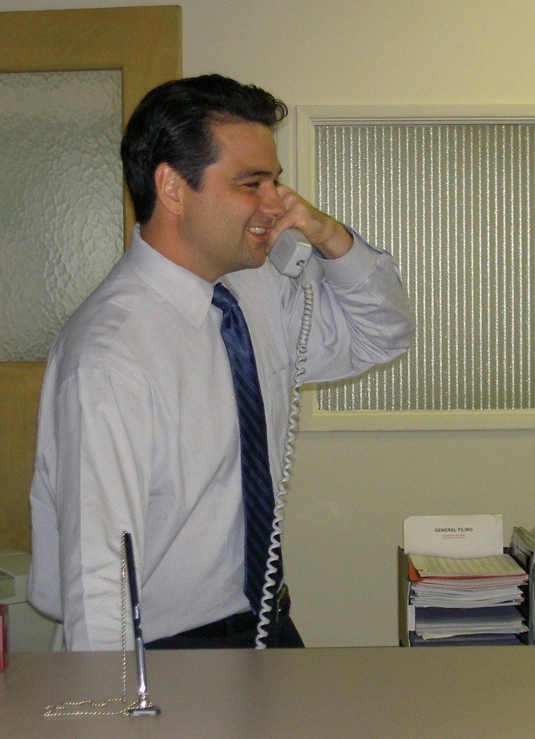 Attendant taking call - Ron Merckling, Public Affairs Manager