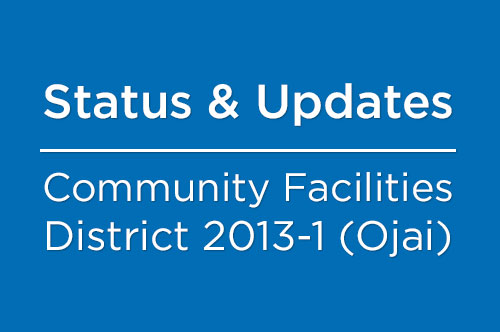 Community Facilities District 2013-1 (Ojai)