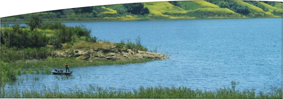 <p>Fishing on Lake Casitas in the spring time.</p>