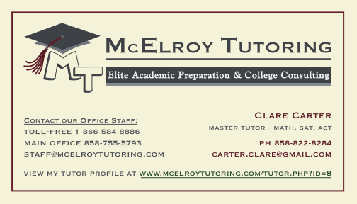 McElroy Tutoring Business Card