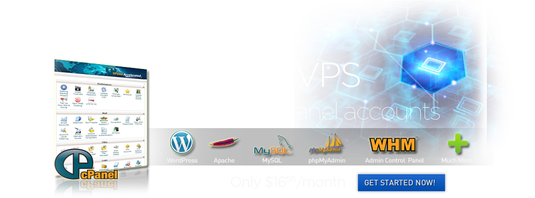 cPanel VPS only $19.95/mo