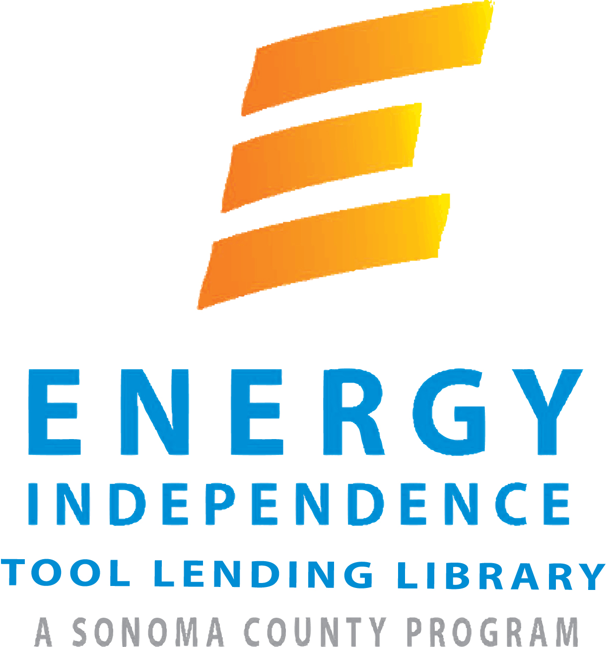 Tool Lending Library logo.  For accessibility assistance, please call the Sonoma County Energy Independence Program at (707) 565-6470.