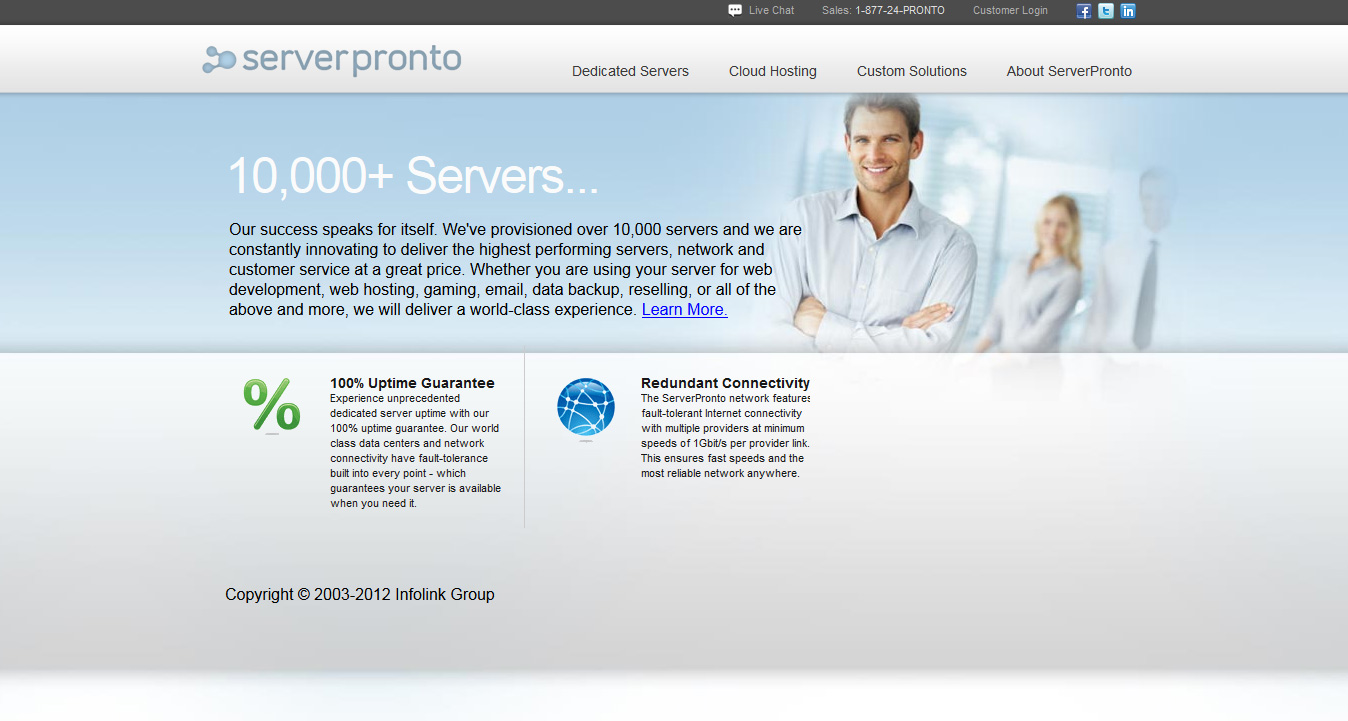 At ServerPronto, they are committed to the best value in the dedicated server business. This means constant innovation to deliver the highest performing network and customer control at the lowest price. Whether you are using your server for web development, tinkering, email, photos, gaming, reselling, or all of the above and more, they will deliver a world-class experience.