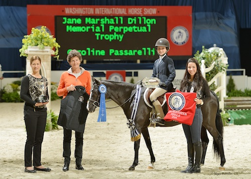 Caroline Passarelli and Little Black Pearl in their winning presentation.
