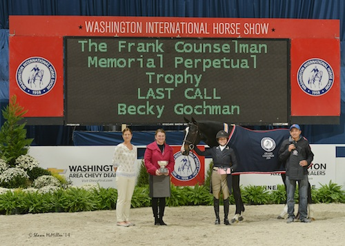 Becky Gochman and Last Call in their winning presentation.