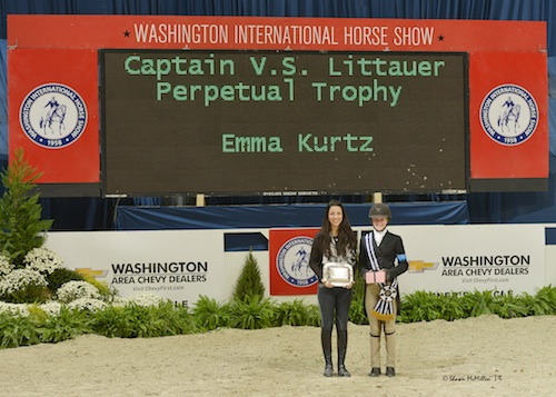 Emma Kurtz was named Best Child Rider on a Pony