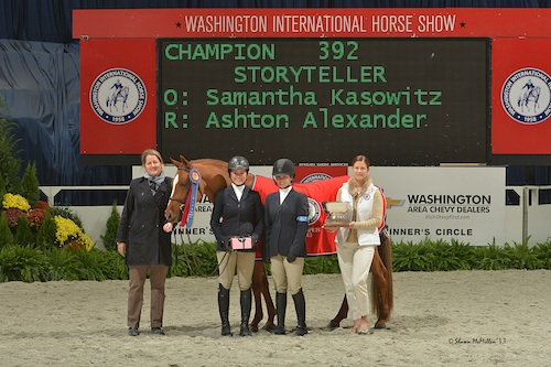 grand pony hunter champion presentation