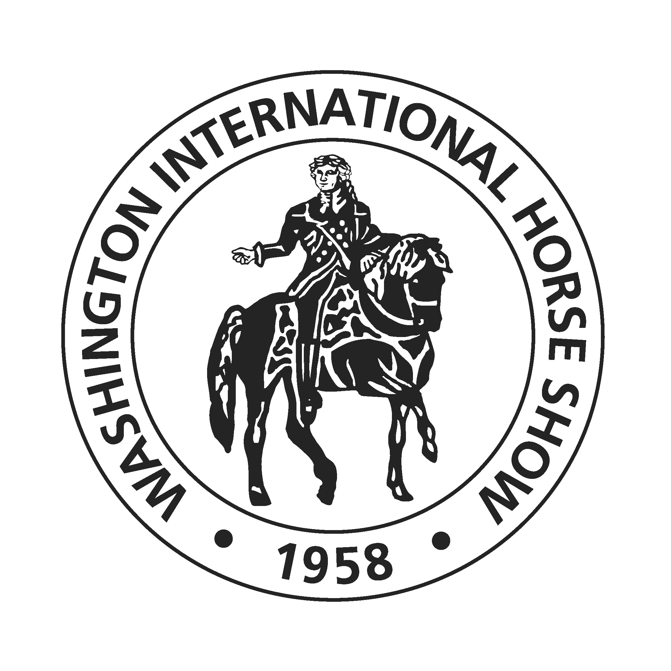 WIHS logo of George Washington on a Horse