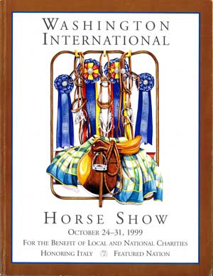 drawing washington horse show ribbons and horse tack