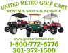 united metro golf cart logo