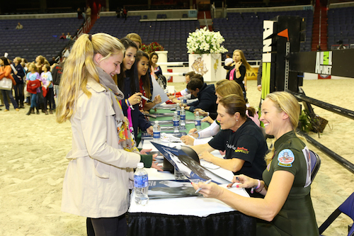 autograph signing at WIHS