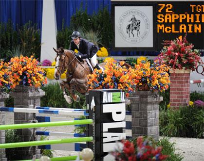 Mclain ward and sapphire at Washington international horse show at verizon center in washington, dc