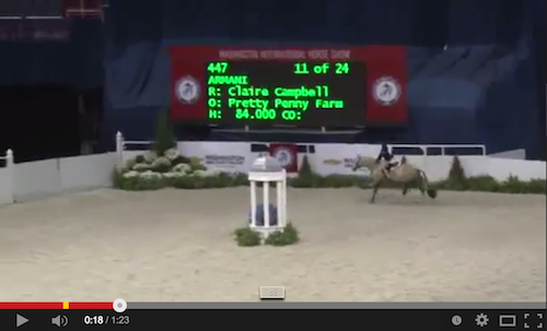 Watch Claire Campbell and Armani in their winning stake round! Video courtesy of Shownet.biz.