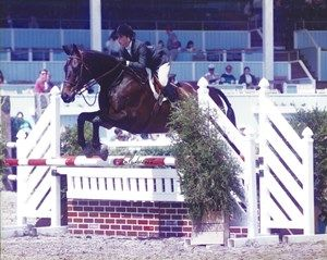 1995 winners of the Washington International Horse Show Equitation Finals Jamie Krauss and Harley | Photo © The Book LLC