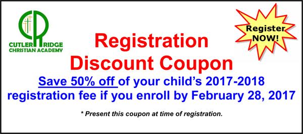 Registration Discount Coupon