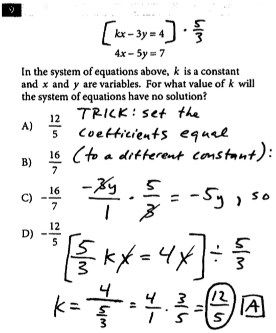 sat question of the day  test  3 sec 3 math nc  9