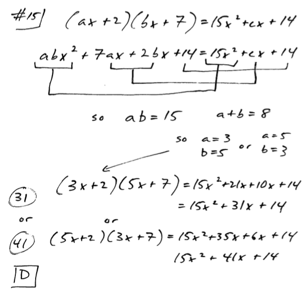 Free Explanations to Selected new SAT Questions from Tests #1-9, and