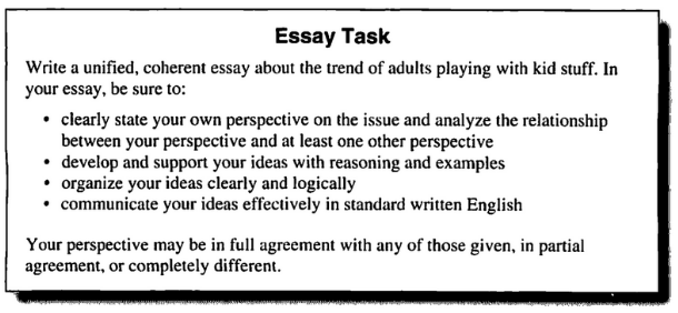 the new act essay  writing section below is the exact prompt from a recent essay please note that the  assignment has been changed frequently and that any act essay prep  materials you use