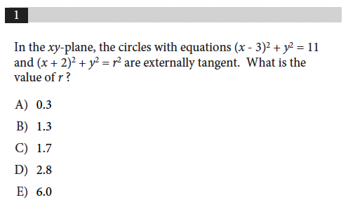 SAT Math Level 2 Subject Test - Practice Question of the Day 7/30/18